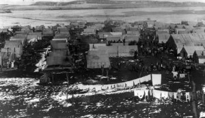 Ludlow Tent Colony, before the massacre, 1914 (image from Denver Public Library)