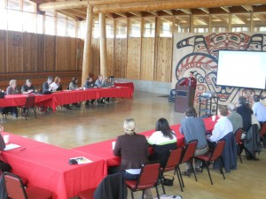 Meeting of Kitsap Forest & Bay Project at Port Gamble S'Klallam Reservation, April 2012