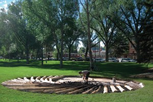 Carbon Sink, an art installation at University of Wyoming that was removed after state leaders and industry supporters perceived it was critical of coal development and energy exploration in the state (University of Wyoming)