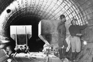 Construction of Moffat Tunnel near Denver, 1936 (Denver Water)