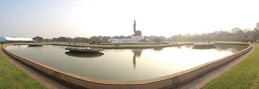 Phuttamonthon Buddhist Park, near Mahidol University, Salaya, Thailand.