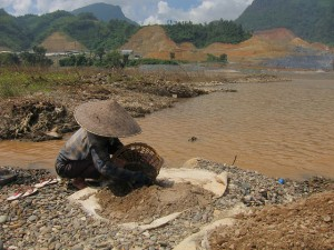 """""""Life by the Mekong River"""" by International Rivers (Photo from Xayaburi Dam site, October 2012)"""